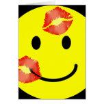 'kissey ' SMILEY FACE CARD