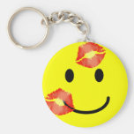 'kissey ' SMILEY FACE KEYCHAIN