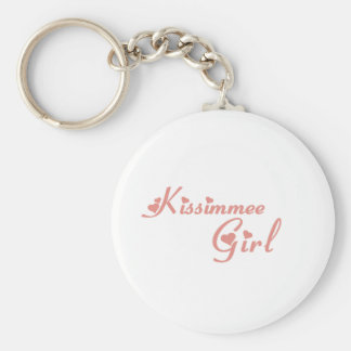 Kissimmee Girl tee shirts Basic Round Button Key Ring