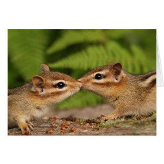 Kissing Baby Chipmunks Card