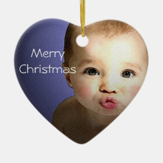 Kissing Baby Christmas Ornament