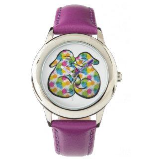 Kissing Bunnies & Colorful Splash, CraftieSpot Watch