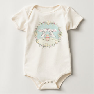 kissing bunnies organic baby wear baby bodysuit