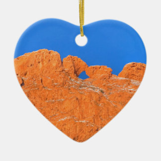 Kissing Camels with Blue Sky Christmas Ornament