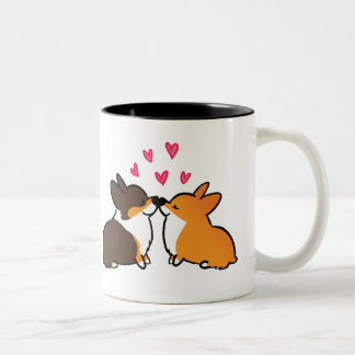 Kissing Corgis Mug | Corgi Kissing