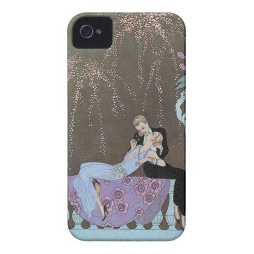 Kissing Couple Deco Blackberry Case