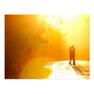 Kissing Couple in the Sunlight Postcard
