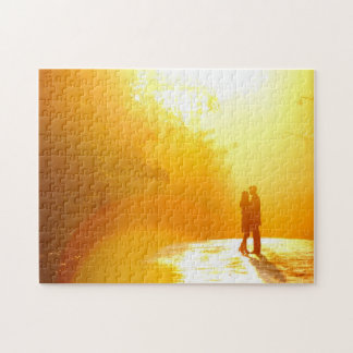 Kissing Couple in the Sunlight Jigsaw Puzzle
