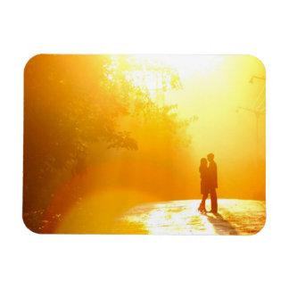 Kissing Couple in the Sunlight Rectangular Photo Magnet