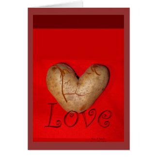 Kissing Couple Love Potato Card