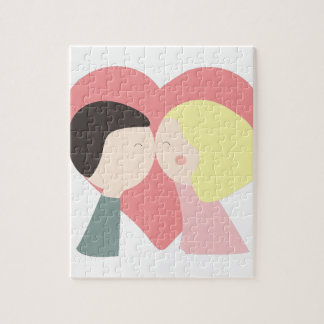 Kissing Couple Puzzles