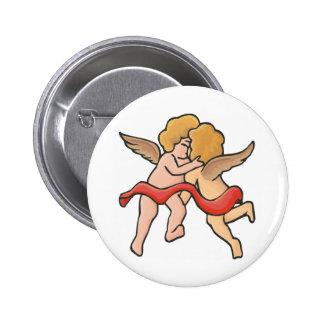 Kissing Cupids 6 Cm Round Badge