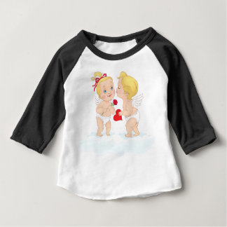 Kissing Cupids Valentine's Day Baby T-Shirt