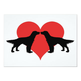 Kissing dogs 13 cm x 18 cm invitation card
