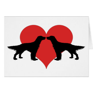 Kissing dogs greeting card