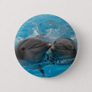 Kissing Dolphins 6 Cm Round Badge
