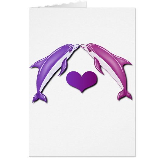 Kissing Dolphins Greeting Card