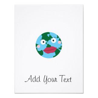 Kissing earth 11 cm x 14 cm invitation card