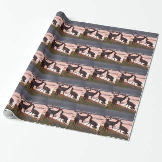 Kissing Elk Wrapping Paper