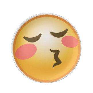 Kissing Emoji Porcelain Plates