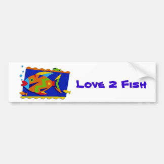 Kissing Fish Car Bumper Sticker