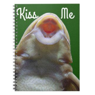 Kissing Fish Spiral Notebook