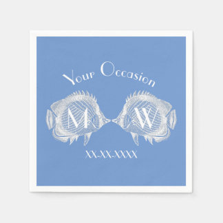 Kissing Fish Your Color Personalize Paper Napkin