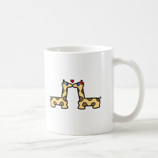 Kissing Giraffes Coffee Mug