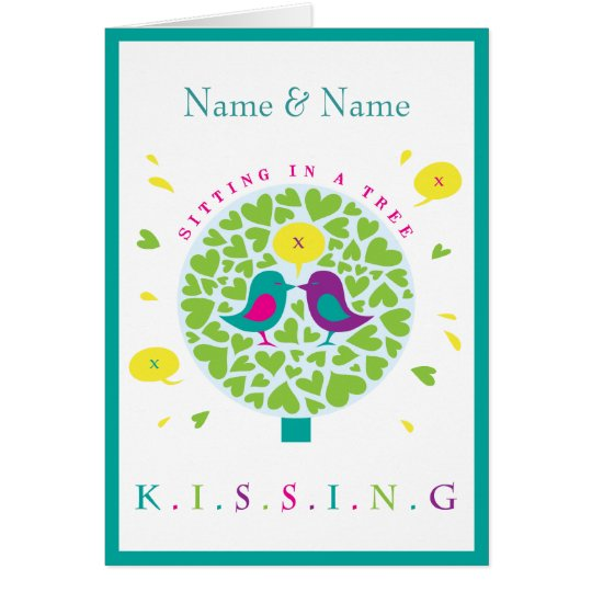 KISSING IN A TREE Card Personalised