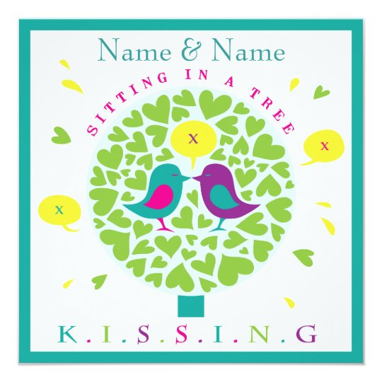 KISSING IN A TREE invitation