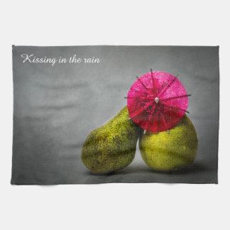 Kissing In The Rain Tea Towel