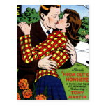 Kissing on the Green Postcard