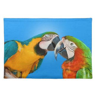 Kissing Parrots Placemats