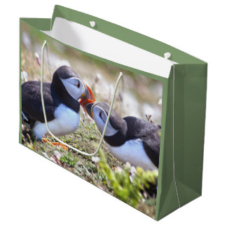 Kissing Puffins Gift Bag