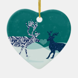 Kissing Reindeer Ornament