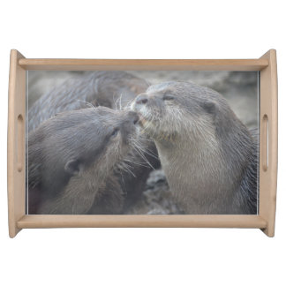 Kissing River Otters Serving Tray