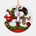 Kissing Snowman Couple