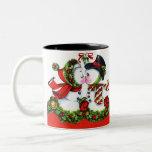 Kissing Snowman Couple Mug