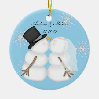 Kissing Snowmen Married Our First Christmas Christmas Ornament