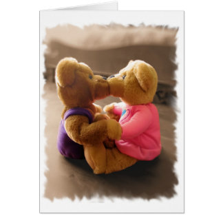 Kissing Teddies Card