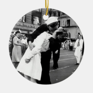 Kissing the War Goodbye at Times Square Christmas Ornament
