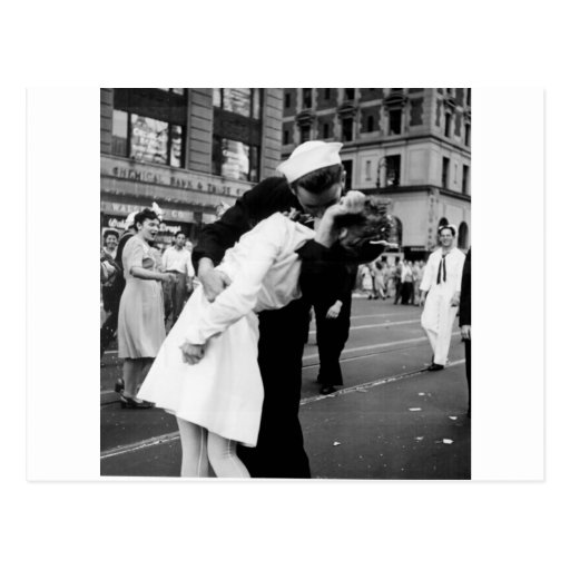 Kissing the War Goodbye at Times Square Postcards