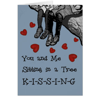 Kissing Valentines Card