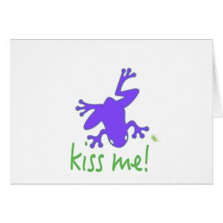Kisss The Frog Card