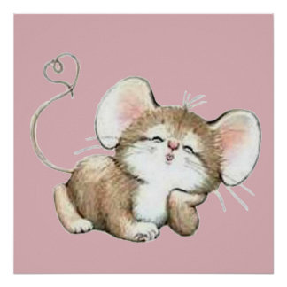 Kissy Mouse Poster