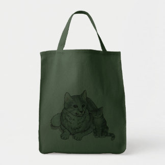 Kit and Cat Tote Bags