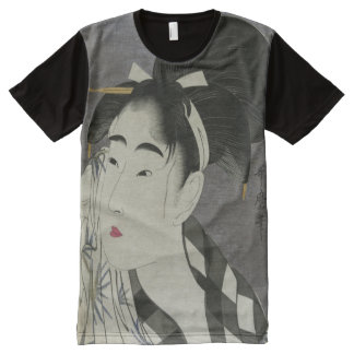 Kitagawa Utamaro's Ase O Fuku Onna art t-shirt