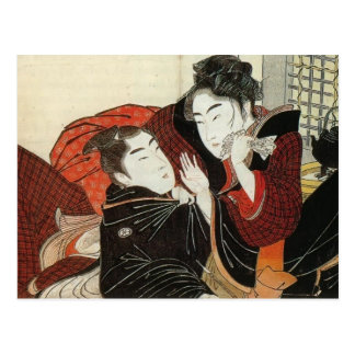 Kitagawa Utamaro: Scene from 'Poem of the Pillow' Postcard