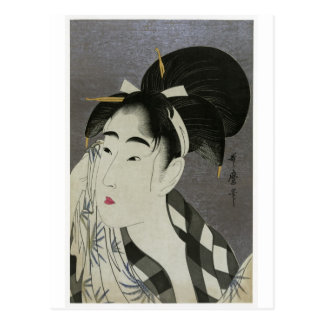 "Kitagawa Utamoro's ""Woman Wiping Sweat"" Postcard"