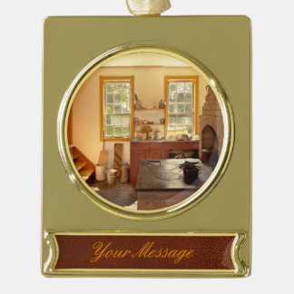 Kitchen - An 1840's Kitchen Gold Plated Banner Ornament